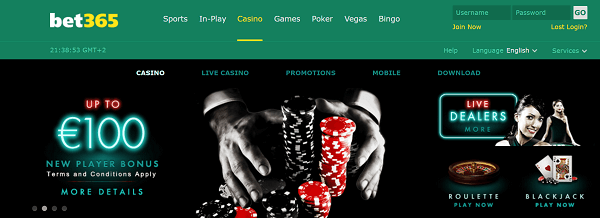 Bet 365 Casino Bonus