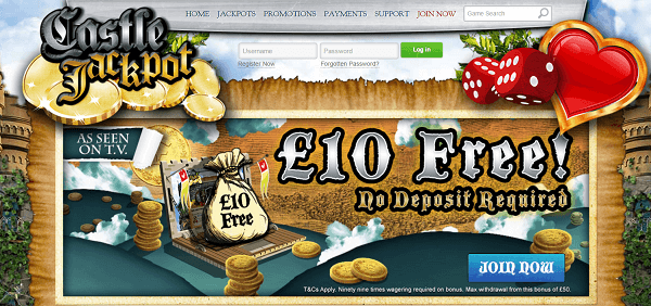 Castle Jackpot £10 Free