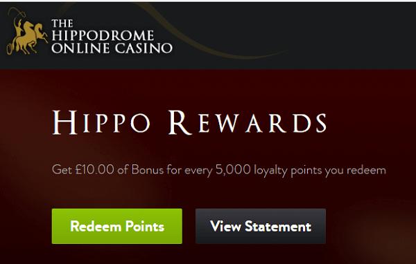 Hippodrome Casino Rewards Points