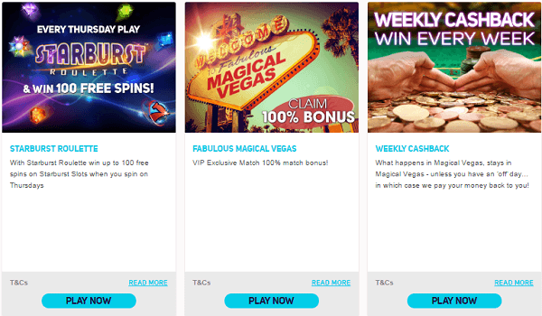 Magical Vegas Promotions
