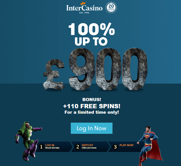 Intercasino Welcome Bonus