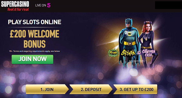 super casino welcome bonus code
