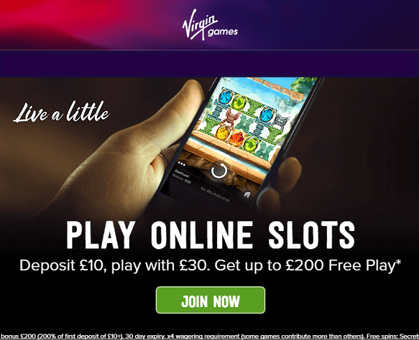 Virgin Casino Welcome Bonus